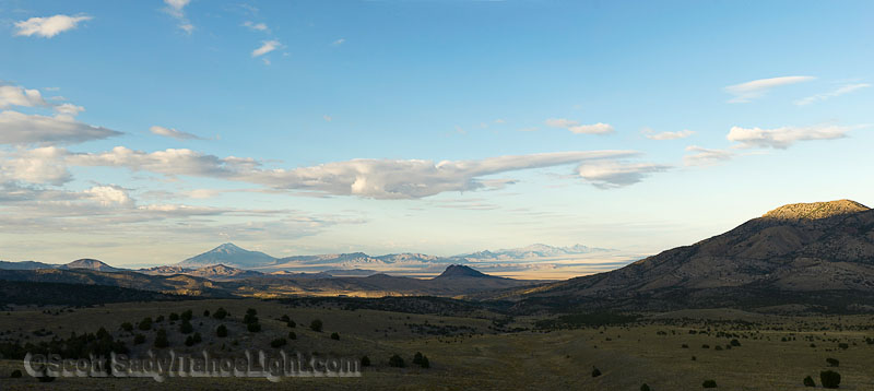 Looking out across the Goshute Mountains in Eastern Nevada from the Hawkwatch raptor observation post towards Wells.