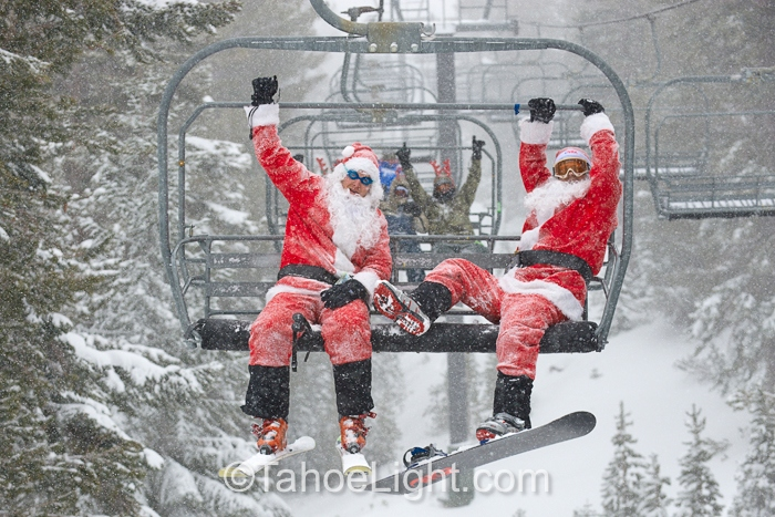 Reno Santa Crawl at Mt. Rose Ski Tahoe