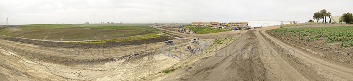 panoramic view of mammoth excavation