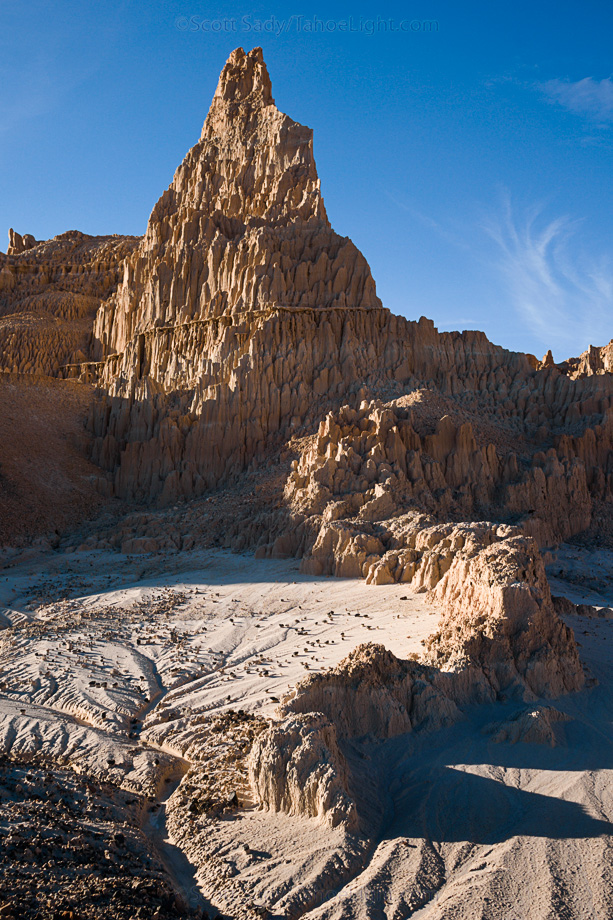 Some of the more interesting formations of Cathedral Gorge.