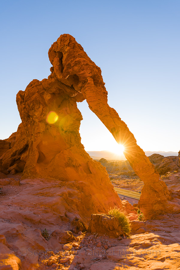 The Elephant Arch at Valley of Fire state park is one of the easiest to reach, being right along the road at the east entrance.