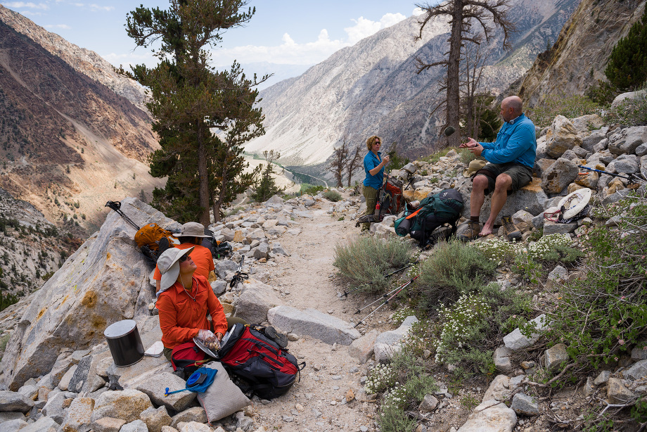 Heading up the steep switchbacks from the Tungsten mine at the Pine Creek Pass trailhead. This is also the trailhead for Italy Pass