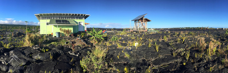 My wife, in a stroke of genius, found a house to rent on airbnb inside the restricted Kalapana Gardens area. That gave us much closer access to the lava fields from that side.